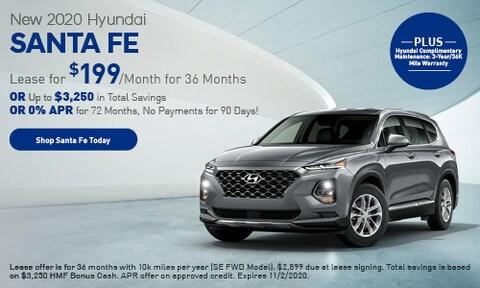 New 2020 Hyundai Santa Fe - Oct