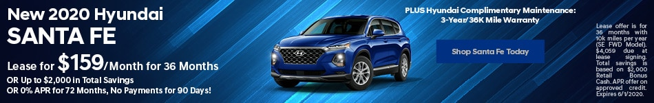 New 2020 Hyundai Santa Fe - May