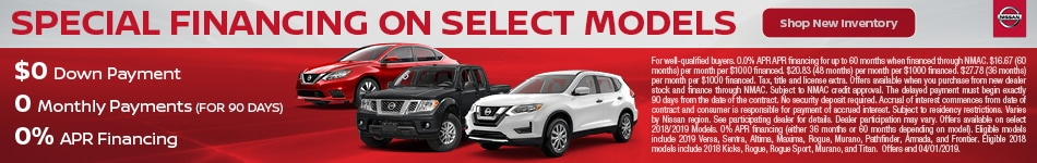 0% APR On Select Nissan Models