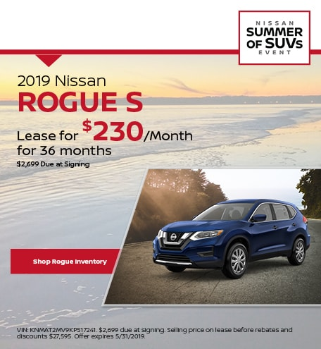 May 2019 Nissan Rogue Lease