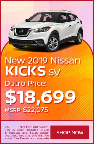 New 2019 Nissan Kicks SV - July