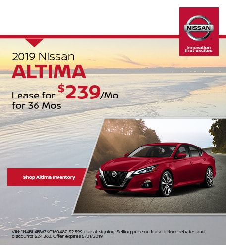 May 2019 Nissan Altima Lease