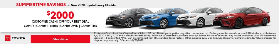 Summertime Savings on New 2020 Toyota Camry Models - August