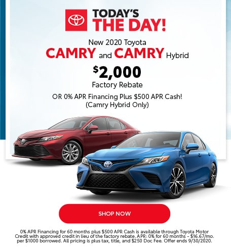New 2020 Toyota Camry and Camry Hybrid - Sept