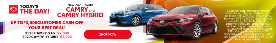 New 2020 Toyota Camry and Camry Hybrid - Oct