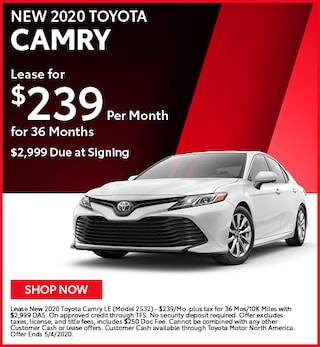 New 2020 Toyota Camry - April