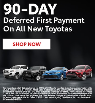 Toyota 90 Day Deferred Payment Program - March
