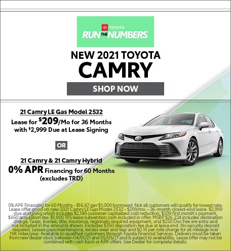 New 2021 Toyota Camry - April
