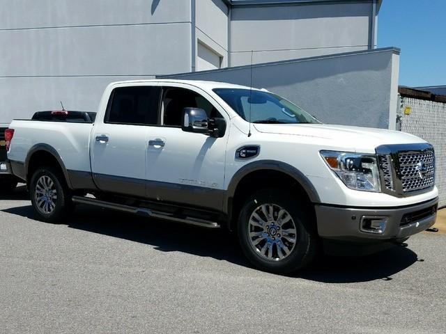 Featured new vehicles 2018 Nissan Titan XD Platinum Reserve Diesel Truck Crew Cab for sale near you in Savannah, GA