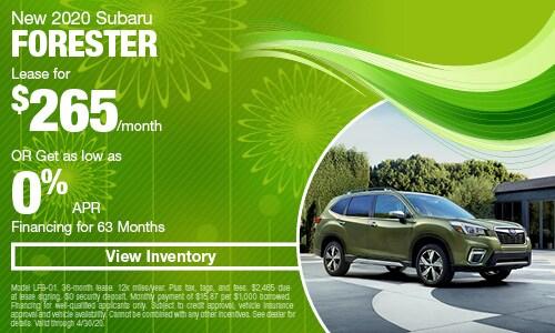 New 2020 Subaru Forester
