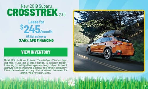 2019 Subaru Crosstrek - April