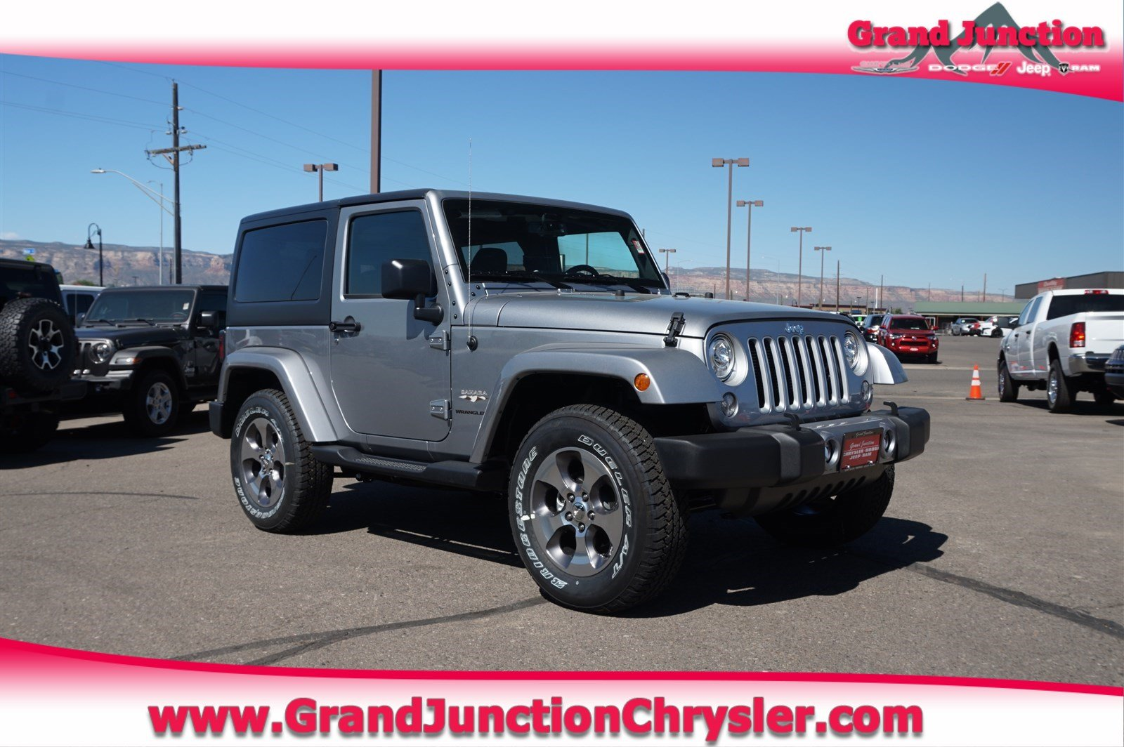 Featured new Chrysler, Dodge, Jeep, and Ram vehicles 2018 Jeep Wrangler JK SAHARA 4X4 Sport Utility for sale near you in Grand Junction, CO