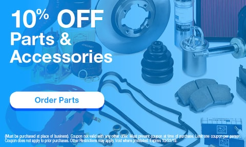 October | 10% Off Parts & Accessories