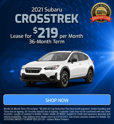 April 2021 Crosstrek Lease Special