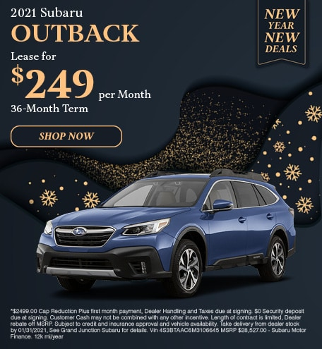 January 2021 Outback Lease Special