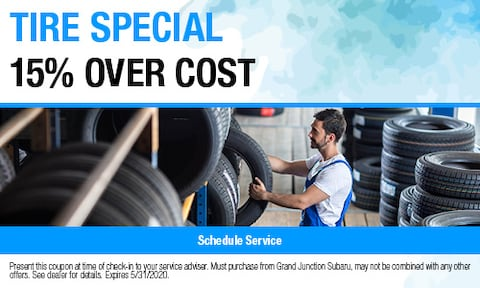 Tire Special 15% Over Cost