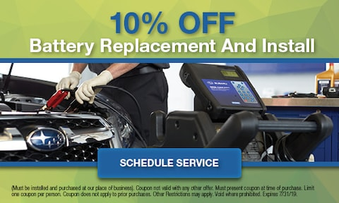 10% Off Battery Replacement and Install