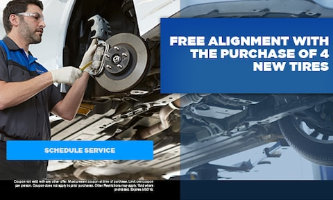 September | Free Alignment With The Purchase Of 4 New Tires