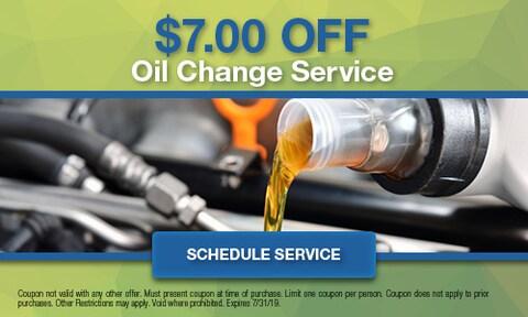 $7.00 Off Oil Change Service