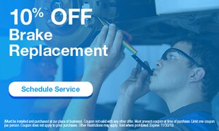 10% Off Brake Replacement