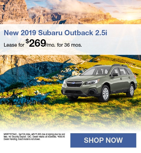 April 2019 Outback 2.5i