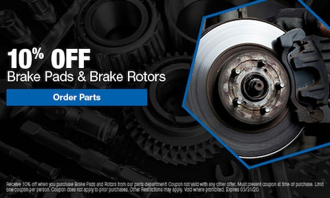 10% Off Brake Pads & Brake Rotors
