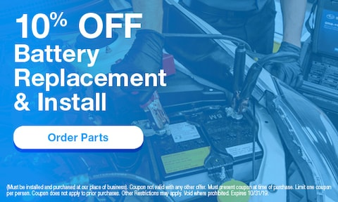 October | 10% Off Battery Replacement