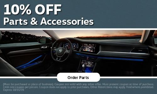 October | 10% Off Parts & Accessories