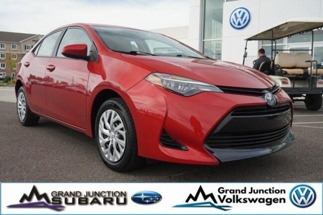 Toyota Grand Junction >> Used 2018 Toyota Corolla For Sale At Grand Junction Volkswagen Vin 5yfburhe5jp821278