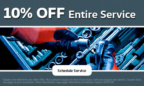 October | 10% Off Entire Service