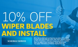 August | 10% Off Wiper Blades & Install