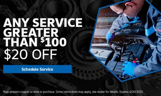 Any Service Greater Than $100.00 Special