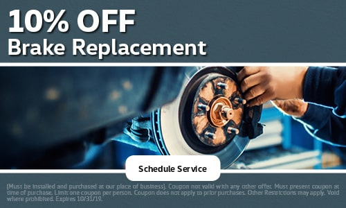 October | 10% Off Brake Replacement