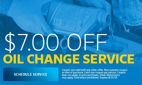 August | $7 Off Oil Change Service