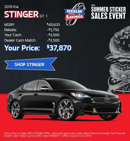 May 2019 Kia Stinger Discounts