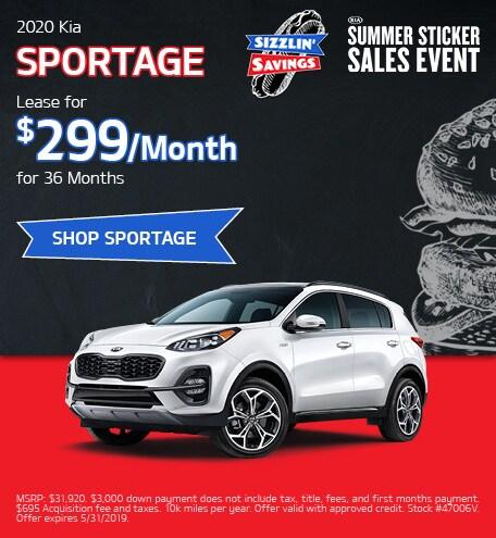 May 2020 Kia Sportage Lease