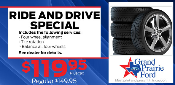 4-Wheel Alignment Service, Grand Prairie, TX Ford Service Coupon