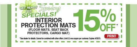 Interior Protection Mats Special - Mar 2021
