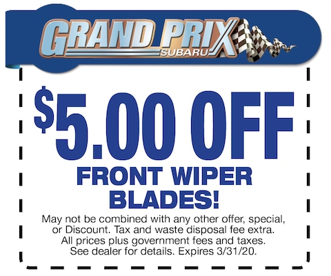 $5 off Front Wiper blades