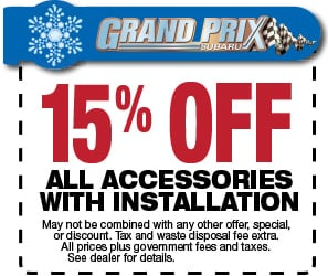 15% off Accessories with Installation
