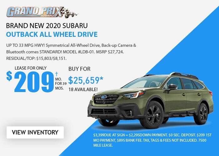 Subaru Outback Deal - October 2020