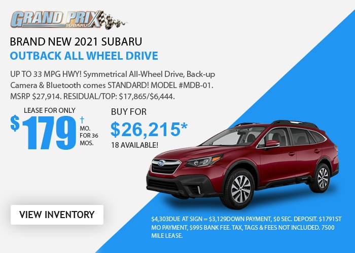 Subaru Outback Deal - January 2021