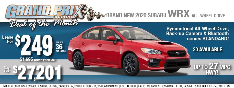 Subaru WRX Deals May 2020