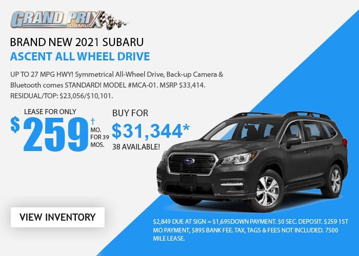 Subaru Ascent Deal - October 2020