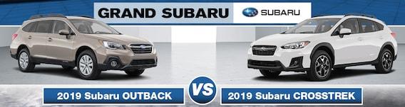 Crosstrek Vs Outback >> 2019 Subaru Outback Vs 2019 Subaru Crosstrek Grand Subaru