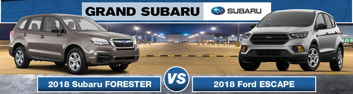 2018 Subaru Forester vs 2018 Ford Escape banner