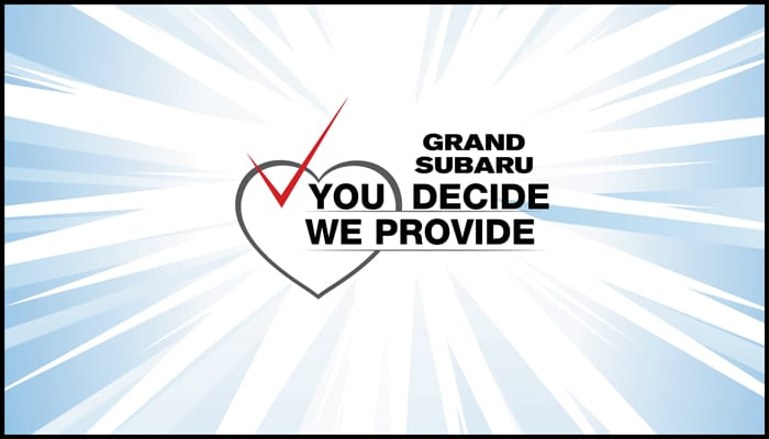 You Decide We Provide Charity Contest Rules - Grand Suburu