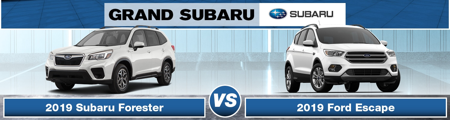 2019 Subaru Forester vs 2019 Ford Escape