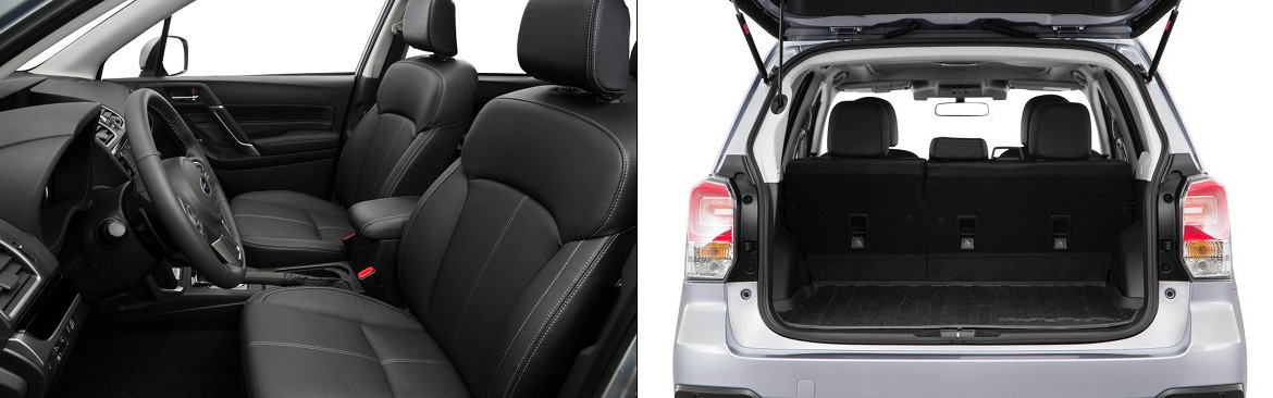 2018 Subaru Forester Interior Seating and Cargo Space