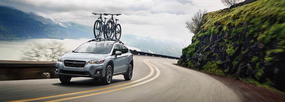 2019 Subaru Crosstrek with bicycle rack